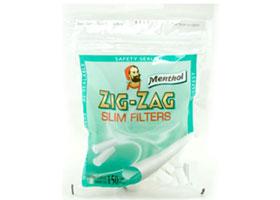 Фильтры для самокруток Zig-Zag Slim Menthol 6 мм