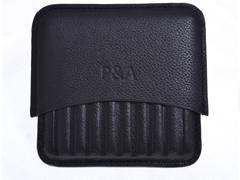 Сигаретница P&A на 10 штук, натуральная кожа T114-Black