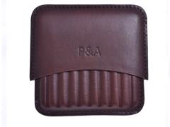 Сигаретница P&A на 10 штук, натуральная кожа T114-Brown