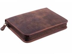 Сигарная сумка P&A на 6 сигар, натуральная буйволиная кожа C251-Buffalo