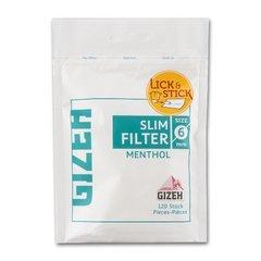 Фильтры для самокруток Gizeh Slim Mehthol 6 мм