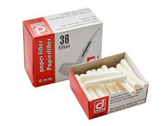 Фильтры для трубок бумажные 6 мм Denicotea 36 шт.