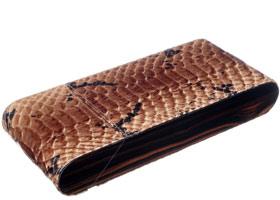 Футляр Gentili на 3 сигары SV3-Ebony-Pitone