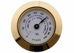 Гигрометр механический 30 мм, золото 603g