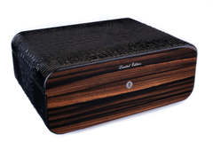 Хьюмидор Gentili Croco Black на 75 сигар Limited Edition SV75-Croco-Black
