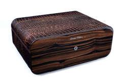 Хьюмидор Gentili Croco Dark на 75 сигар Limited Edition SV75-Croco-Dark