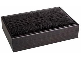 Хьюмидор Gentili на 15 сигар SV15-Black Крокодил Чёрное Дерево