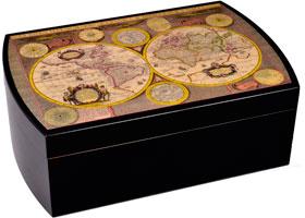 Хьюмидор Mastro de Paja на 50 сигар H01-BL Карта Мира