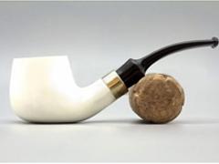 Курительная трубка BIGBEN Royal Goldline white polish 014