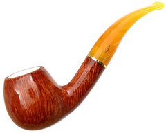Курительная трубка BREBBIA Sun ambra meerschaum 834