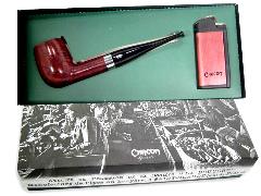 Курительная трубка CHACOM Pipe&Briquet Straight + зажигалка