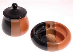 Набор из банки для табака и пепельницы Lubinski, керамика 520-102-522-002
