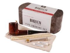 Набор трубочный Big Ben Smoking Set Brown Straight