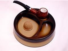 Пепельница на 2 трубки, стекло 520-832