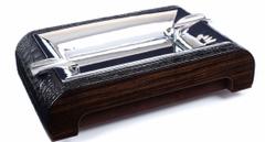Пепельница настольная Gentili 930-Croco-Black-Ebony