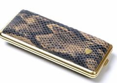 Портсигар Stoll Коричневая Змея на 8-14 сигарет  C13-5