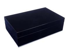 Шкатулка подарочная для трубки, черный лак 810-099