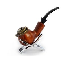 Курительная трубка B & B №028 груша, фильтр 9 мм, метал.крышка