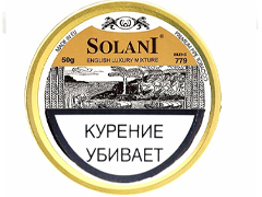 Трубочный табак Solani Aged Burley Flake - Gold Label - English Mixture (blend 779) 50 гр.
