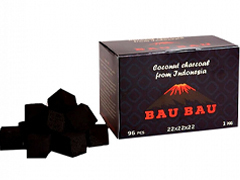 Уголь для кальяна BAU BAU (22mm) - 1KG - 96 BRICKS