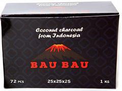 Уголь для кальяна BAU BAU (25mm) - 1KG - 72 BRICKS