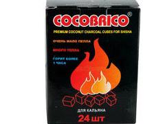 Уголь для кальяна кокосовый СОСОBRICO 24 куб.