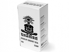 Уголь для кальяна SHAMAN (22mm) - 1KG - 96 BRICKS