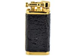 Зажигалка трубочная Im Corona - 64-5003 - Old Boy Gold Plated Sandblast Briar
