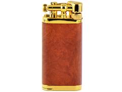Зажигалка трубочная Im Corona - 64-5009 - Old Boy Gold Plated Narural Briar