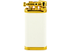 Зажигалка трубочная Im Corona - 64-5110 - Old Boy White Goldplated