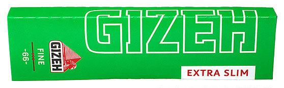 Бумага для самокруток Gizeh Green Extra Slim 66 вид 1