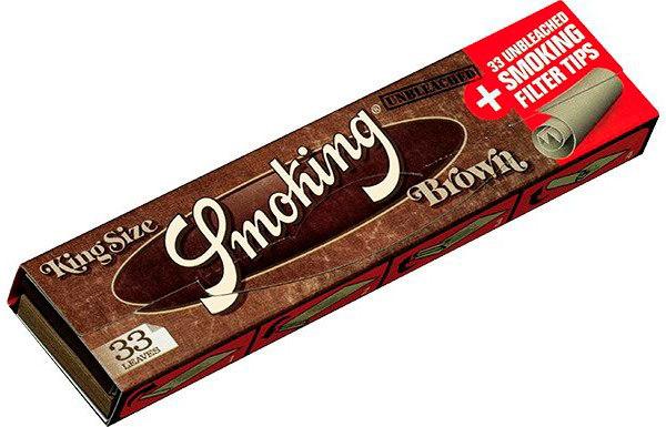 Бумага для самокруток Smoking King Size Brown + FTIPS вид 1