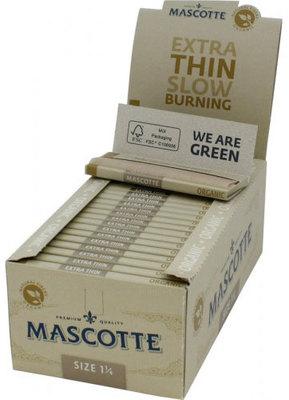 Бумага для самокруток Mascotte Extra Thin Organic Size 1 1/4 вид 2