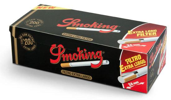 Гильзы для самокруток Smoking Extra Long 200 шт вид 1