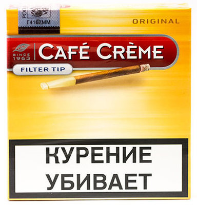 Сигариллы Cafe Creme Original Filter Tip вид 1