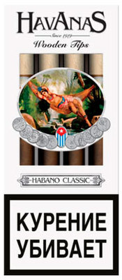 Сигариллы Havanas Wooden Tips Habano Classic 4 шт. вид 1