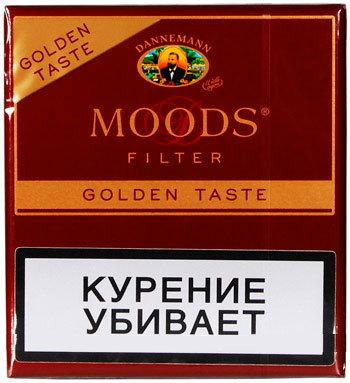 Сигариллы Moods Filter Golden 10 вид 1