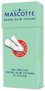 Фильтры сигаретные Mascotte Extra Slim Filters Sticks 6мм вид 1