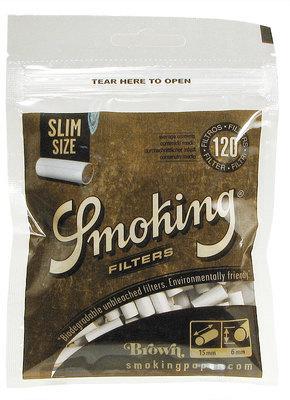 Фильтры для самокруток Smoking Slim Brown вид 1