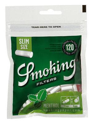Фильтры для самокруток Smoking Slim Menthol вид 1