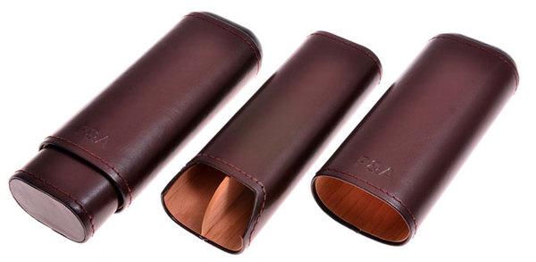 Футляр P&A на 2 сигары Brown Т1105 вид 1