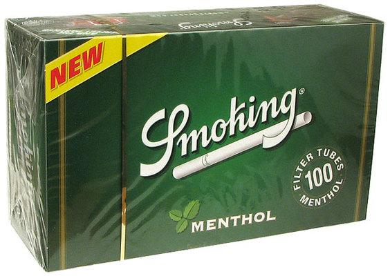 Гильзы для самокруток Smoking Menthol 100 шт вид 1