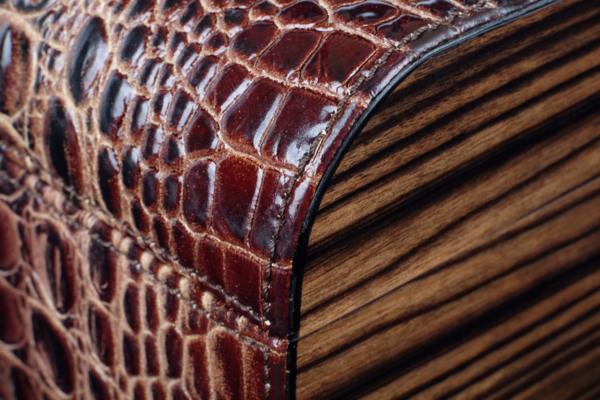 Хьюмидор Gentili Limited Edition на 40 сигар SV40-LE-Croco-dark вид 5