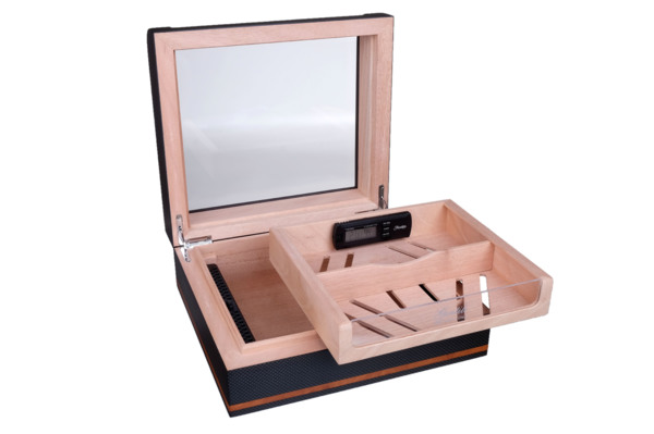 Хьюмидор-шкаф Gentili на 40 сигар  Карбон  CPL-40 вид 3