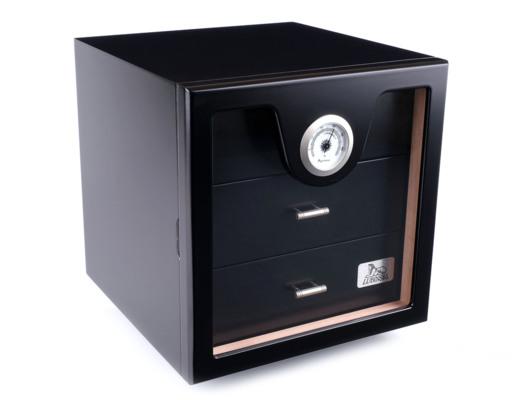 Хьюмидор-шкаф Lubinski на 100 сигар, Черный лак Q216 вид 1