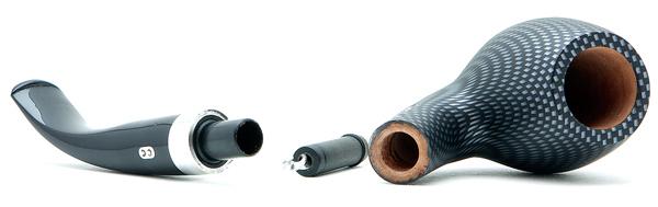 Курительная трубка CHACOM Carbone 851 9mm вид 2