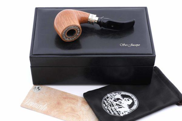 Курительная трубка SER JACOPO Leonardo da Vinci Zaffiro (Сапфир) в шкатулке S699 вид 10