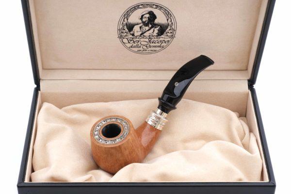 Курительная трубка SER JACOPO Leonardo da Vinci Zaffiro (Сапфир) в шкатулке S699 вид 1