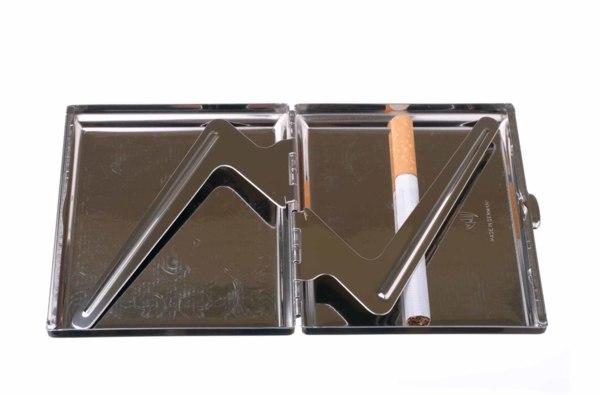 Портсигар Stoll  Стальной на 18 сигарет  C45-2 вид 3
