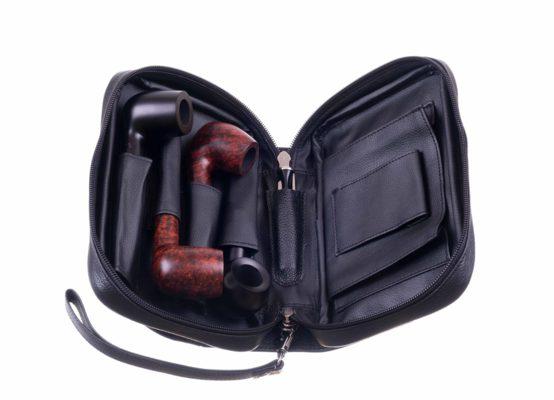 Сумка P&A для 4 трубок и табака 418-Black вид 3